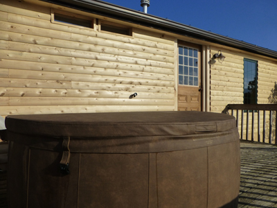 Stowe Log Cabin with Hot Tub