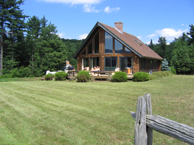 Vermont Rental House Stowe Vt Log Chalet And Log Cabin